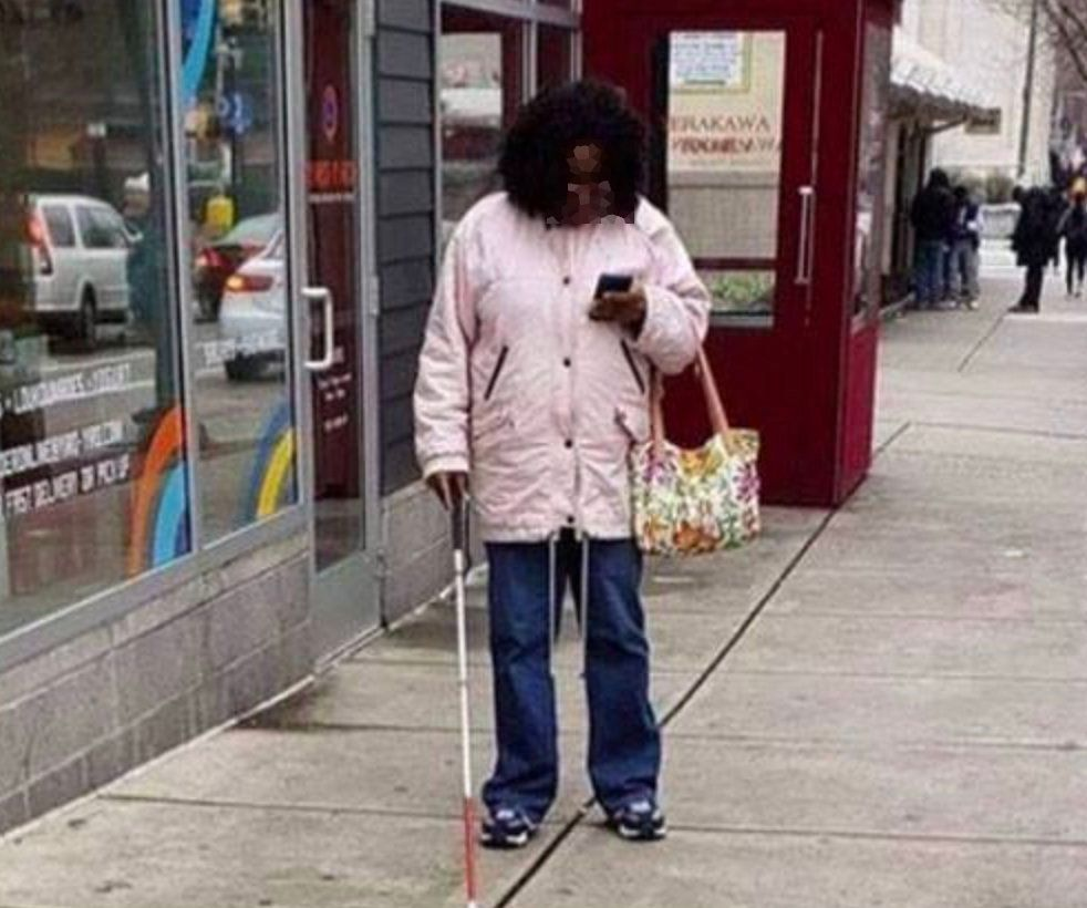 The Viral Facebook Photo Of A 'Fake' Blind Woman Shows We Still Don't Understand Being Partially