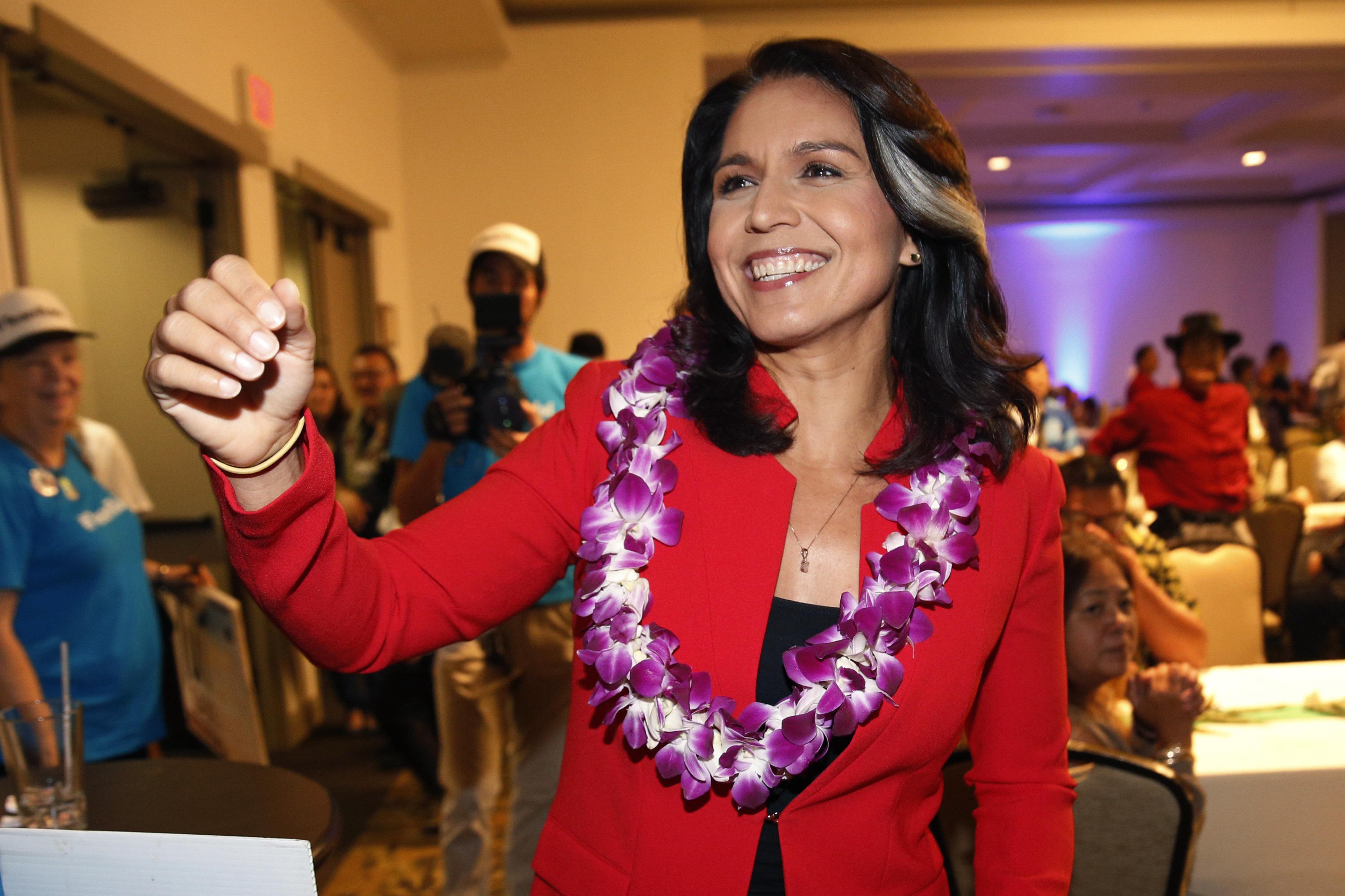 Rep. Tulsi Gabbardis pitching herself as Democrats' top anti-war voice and a serious progressive...