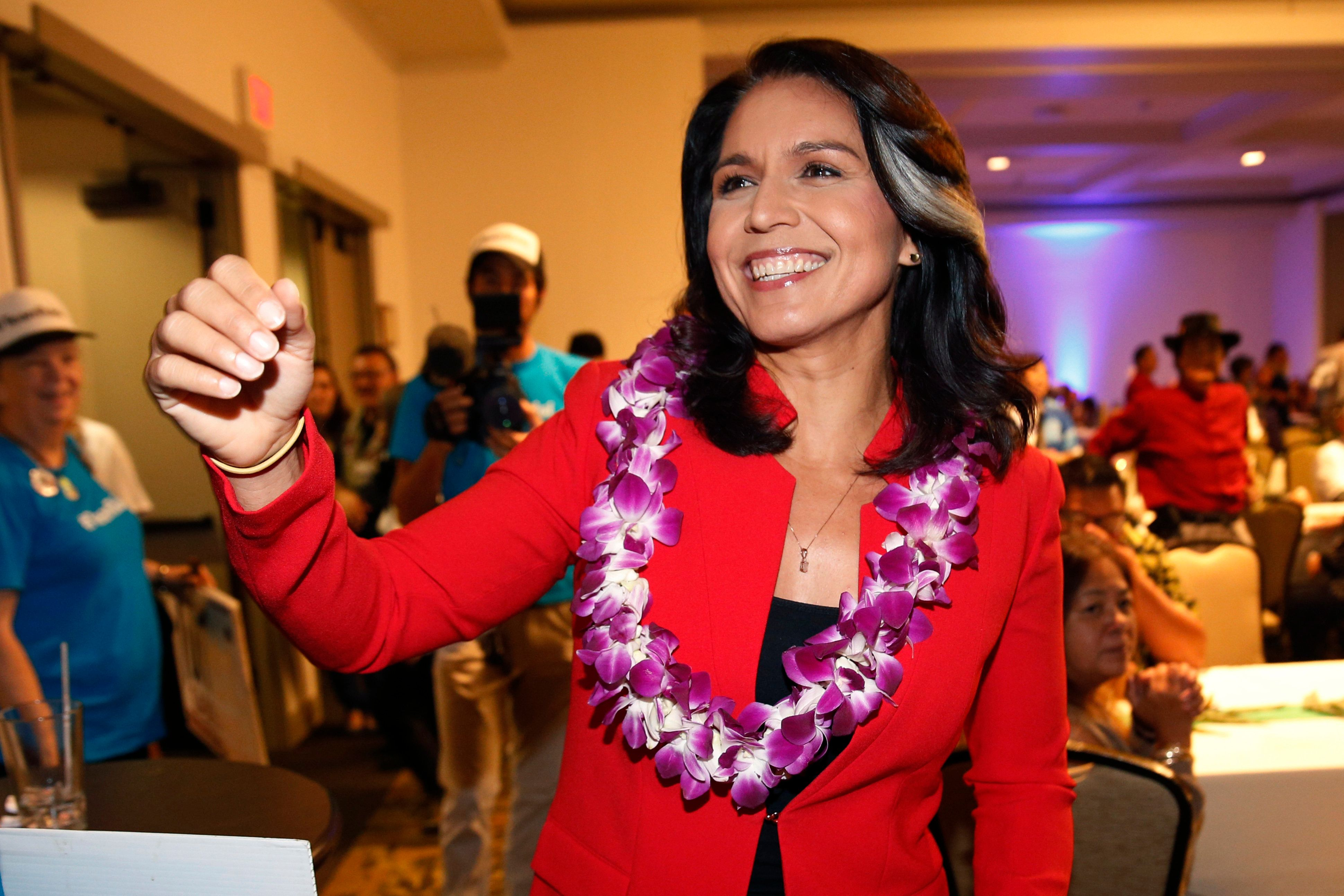 Rep. Tulsi Gabbardis pitching herself as Democrats' top anti-war voice and a serious progressive in her bid for t