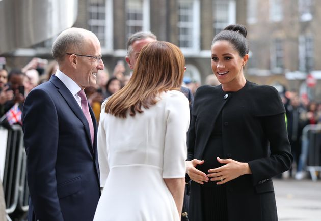Meghan met with students and academics during her first visit at patron of the
