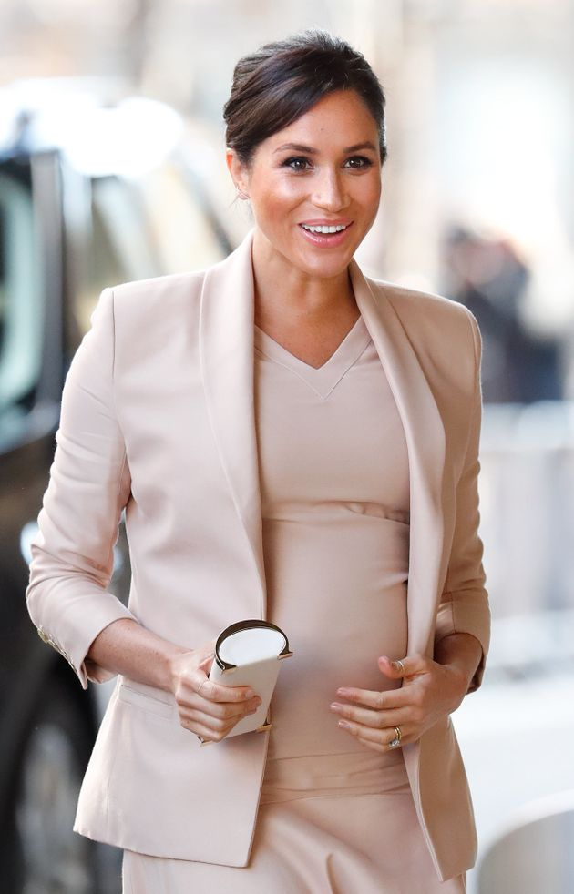 Meghan, Duchess of Sussex, visits the National Theatre on Jan. 30 in