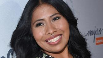 MEXICO CITY, MEXICO - JANUARY 29: Yalitza Aparicio, nominated for the Academy Award for Best Actress for her role in 'Roma', poses for photos during the Mujeres Lenovo Event as part of its second edition at Simon's Restaurant on January 29, 2019 in Mexico City, Mexico. (Photo by Carlos Tischler/Getty Images)