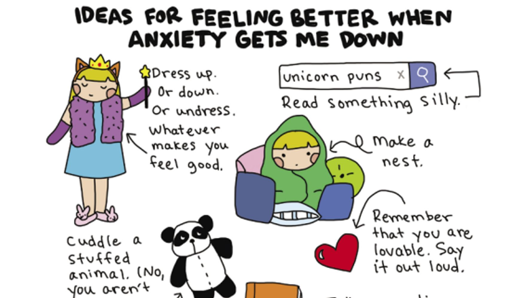 10 All Too Relatable Comics About Coping With Anxiety | HuffPost Life