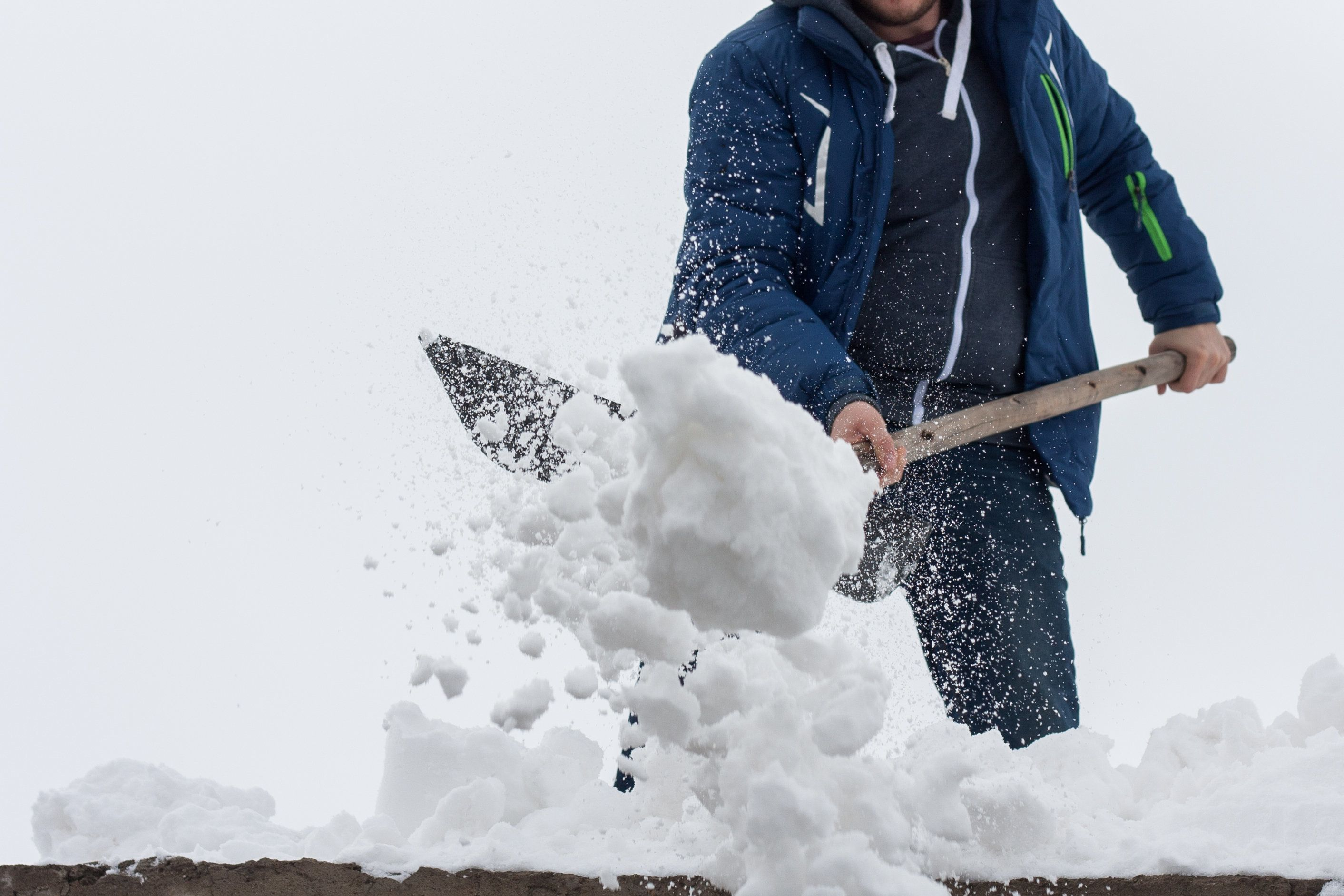 Snow shovelers should take frequent breaks, stay well hydrated and seek medical attention if experiencing any chest pain.