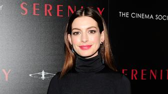 NEW YORK, NY - JANUARY 23: Anne Hathaway attends Aviron Pictures With The Cinema Society Host A Special Screening Of 'Serenity' at Museum of Modern Art on January 23, 2019 in New York City. (Photo by Paul Bruinooge/Patrick McMullan via Getty Images)
