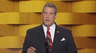 """U.S. Representative Tim Ryan (Ohio) speaks at the Democratic National Convention in Philadelphia, Pennsylvania, discusses how Trump is not """"on our side."""""""