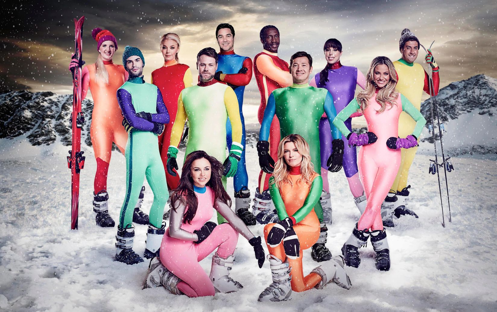 The Jump's third series cast, including Beth Tweddle, Sarah Harding and Brian