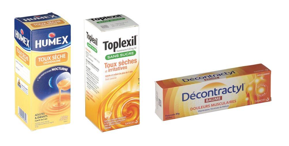 Toplexil, Humex et Décontractyl sur cette liste noire des médicaments à