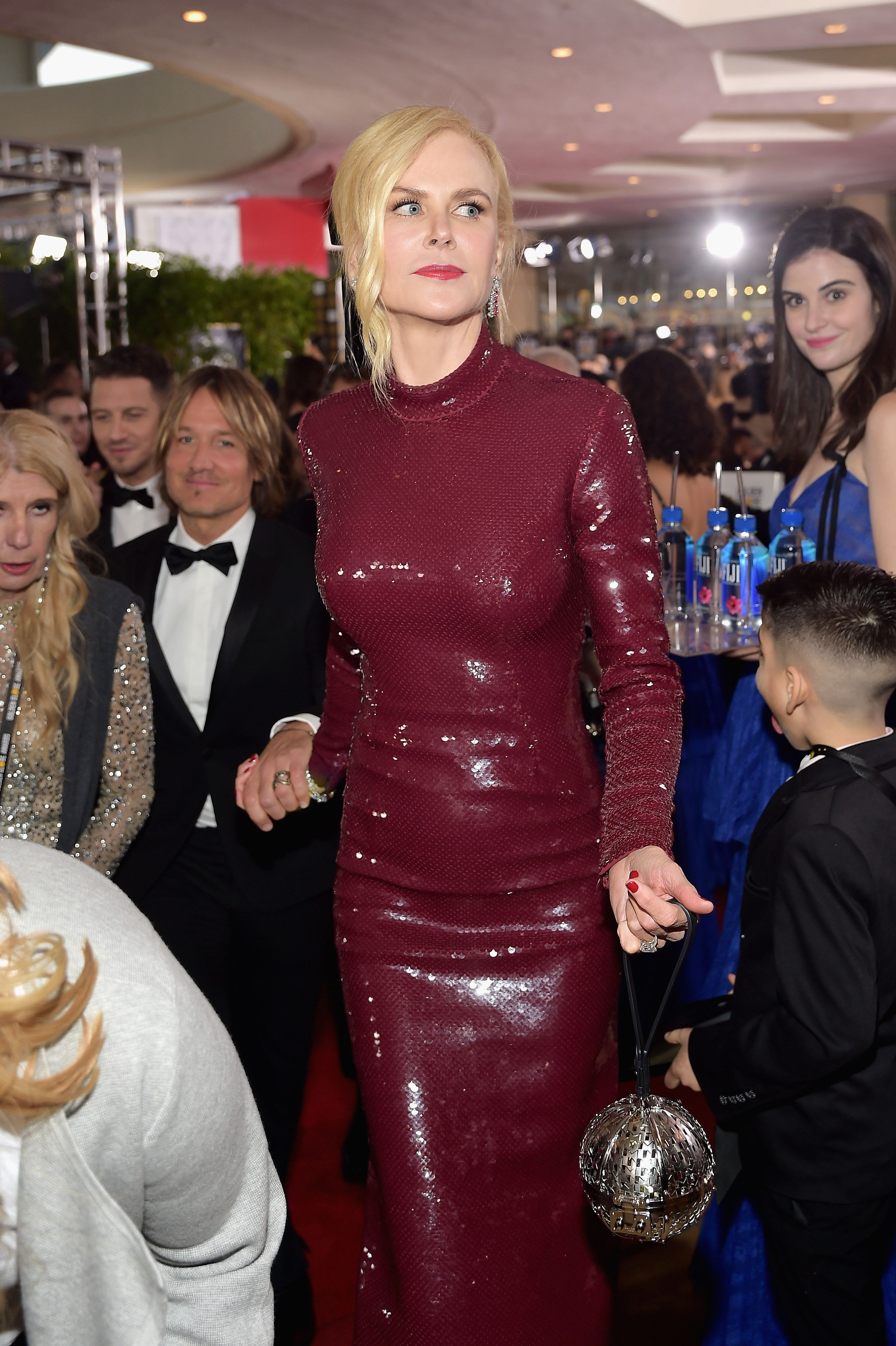 Kelleth seen in the background of this shot of Nicole Kidman at the Golden