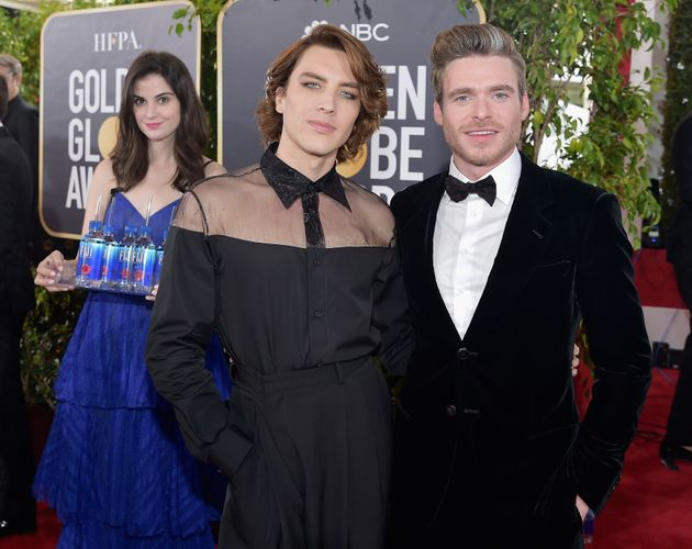 Kelleth at the Golden Globes (oh, and that's Cody Fern and Richard