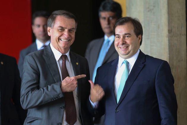 Bolsonaro e Maia, mostravam sintonia ainda durante o governo de