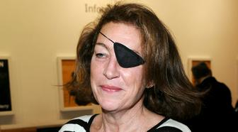 FILE - This Nov. 3, 2008, file photo shows Marie Colvin. In a verdict unsealed late Wednesday, Jan. 30, 2019, a Washington judge hit the Syrian government with a $302 million judgment over the 2012 death of journalist Colvin, a longtime foreign correspondent for The Sunday Times. (Joel Ryan/PA via AP, File)