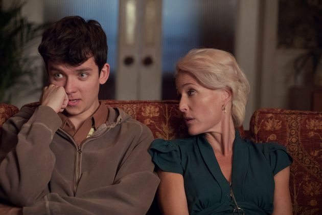 Asa Butterfield and Gillian Anderson in Sex