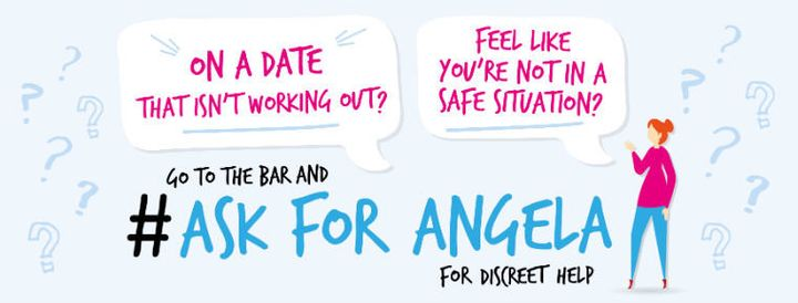 'Ask For Angela' campaign poster.