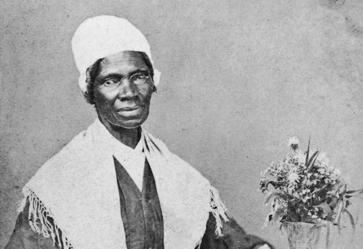 Portrait of American abolitionist and feminist Sojourner Truth (1797-1883), a former slave who advocated emancipation, c. 188