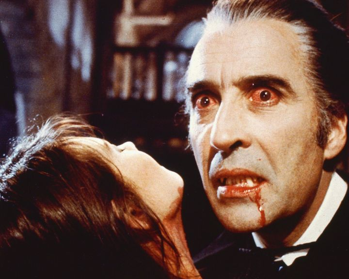 Christopher Lee as the blood-sucking Count in 'Dracula AD 1972'.