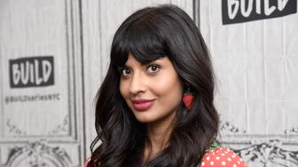 NEW YORK, NY - OCTOBER 02:  Actress Jameela Jamil visits Build Series to discuss the TV show 'The Good Place' at Build Studio on October 2, 2018 in New York City.  (Photo by Gary Gershoff/WireImage)