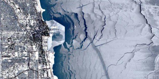 Le lac Michigan à Chicago est entièrement gelé depuis plus de dix