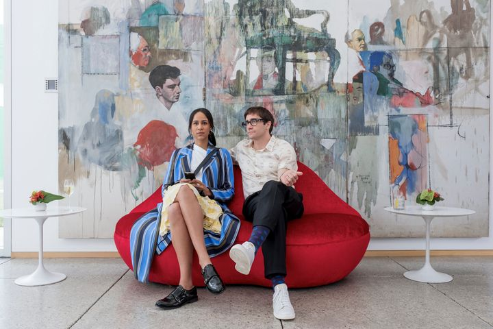 "Zawe Ashton and Gyllenhaal in ""Velvet Buzzsaw."""