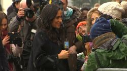 Crowds In Bristol Brave The Snow To See Harry And
