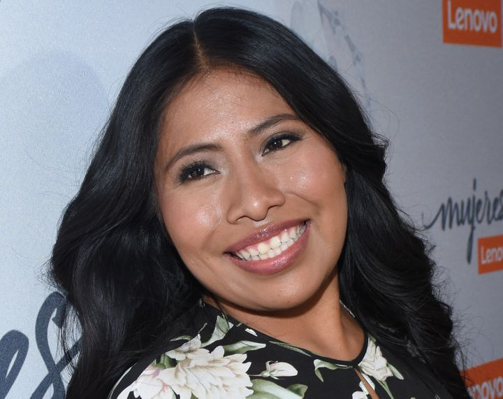 "Yalitza Aparicio, the star of ""Roma,"" at an event in Mexico City on Jan. 29."