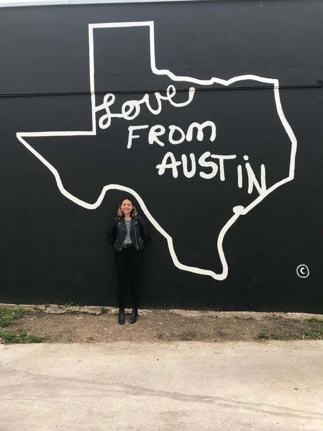 Wong during her 2018 trip to Austin, Texas, where she found the first bald