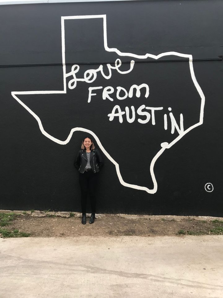 Wong during her 2018 trip to Austin, Texas, where she found the first bald spot.