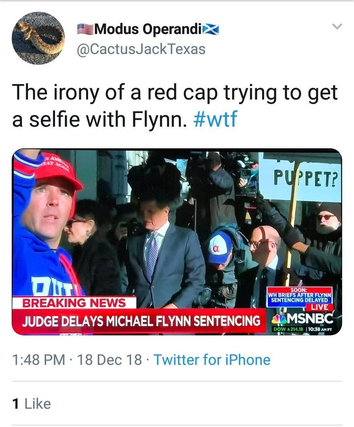 Riches photobombs a Michael Flynn court hearing.