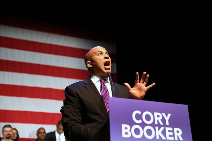 Sen. Cory Booker after winning a special election in 2013.