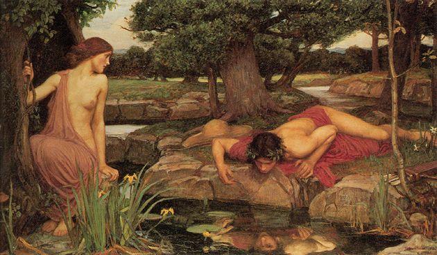 영국 화가 존 윌리엄 워터하우스의 `에코와 나르시소스'(1903).