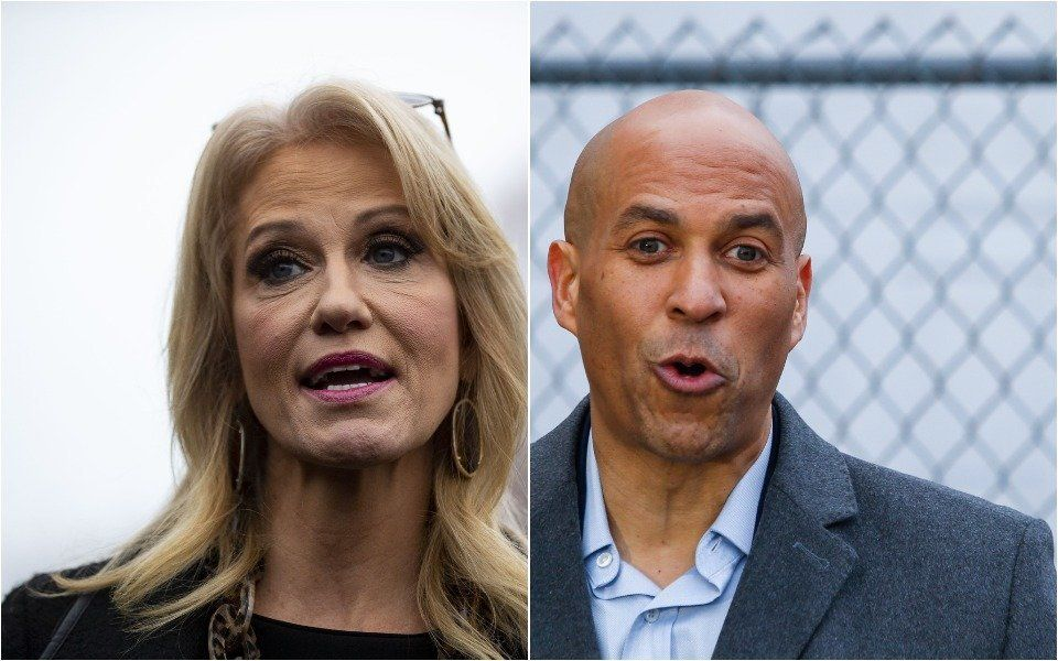 Kellyanne Conway and Cory Booker
