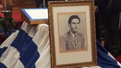 Ο ασπρομάλλης παππούς στο μνημόσυνο του Μ.