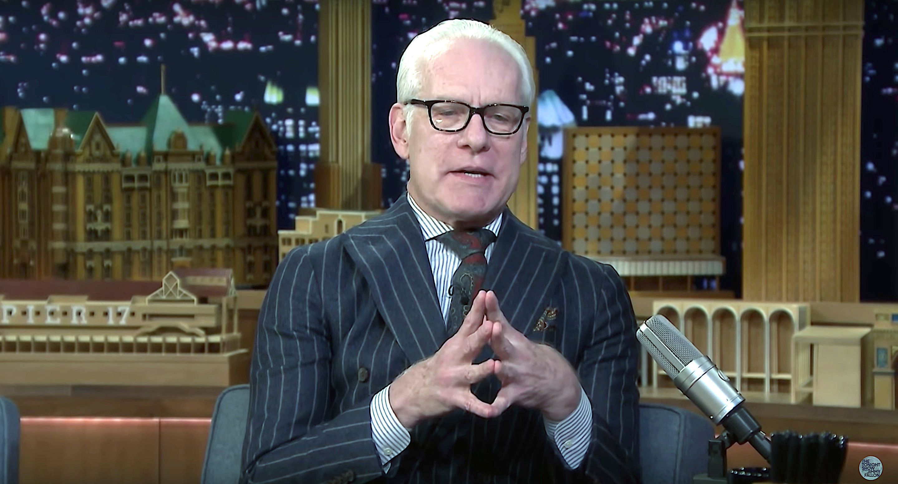 "Tim Gunn appears on ""The Tonight Show"""