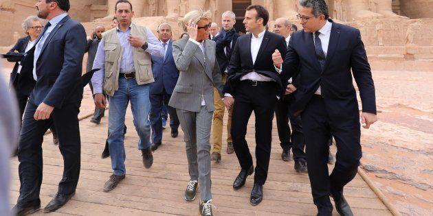 Brigitte et Emmanuel Macron ont notamment visité le temple d'Abou Simbel lors du voyage présidentiel...