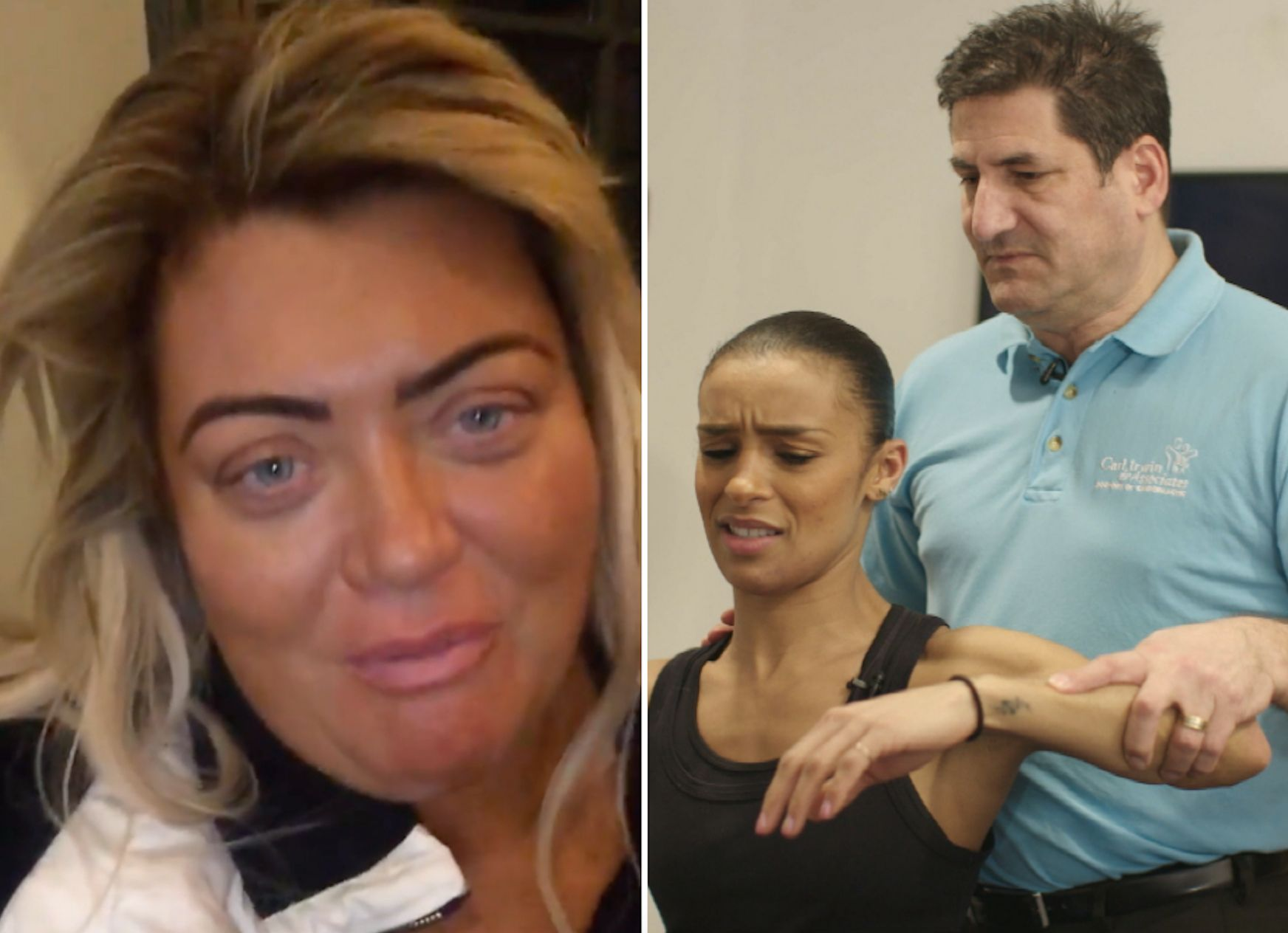 Dancing On Ice Stars Gemma Collins And Melody Thornton Suffer Injuries Ahead Of Live