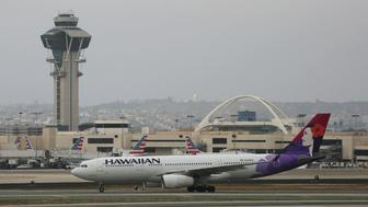 LOS ANGELES, CA - JUNE 28: Hawaiian Airlines A330 at Los Angeles International Airport on June 28, 2017 in Los Angeles, California.  (Photo by FG/Bauer-Griffin/GC Images)
