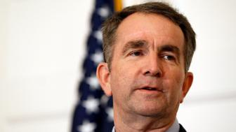 Virginia Gov. Ralph Northam speaks during a news conference in the Governor's Mansion in Richmond, Va., on Saturday, Feb. 2, 2019. Northam is under fire for a racial photo that appeared in his college yearbook. (AP Photo/Steve Helber)