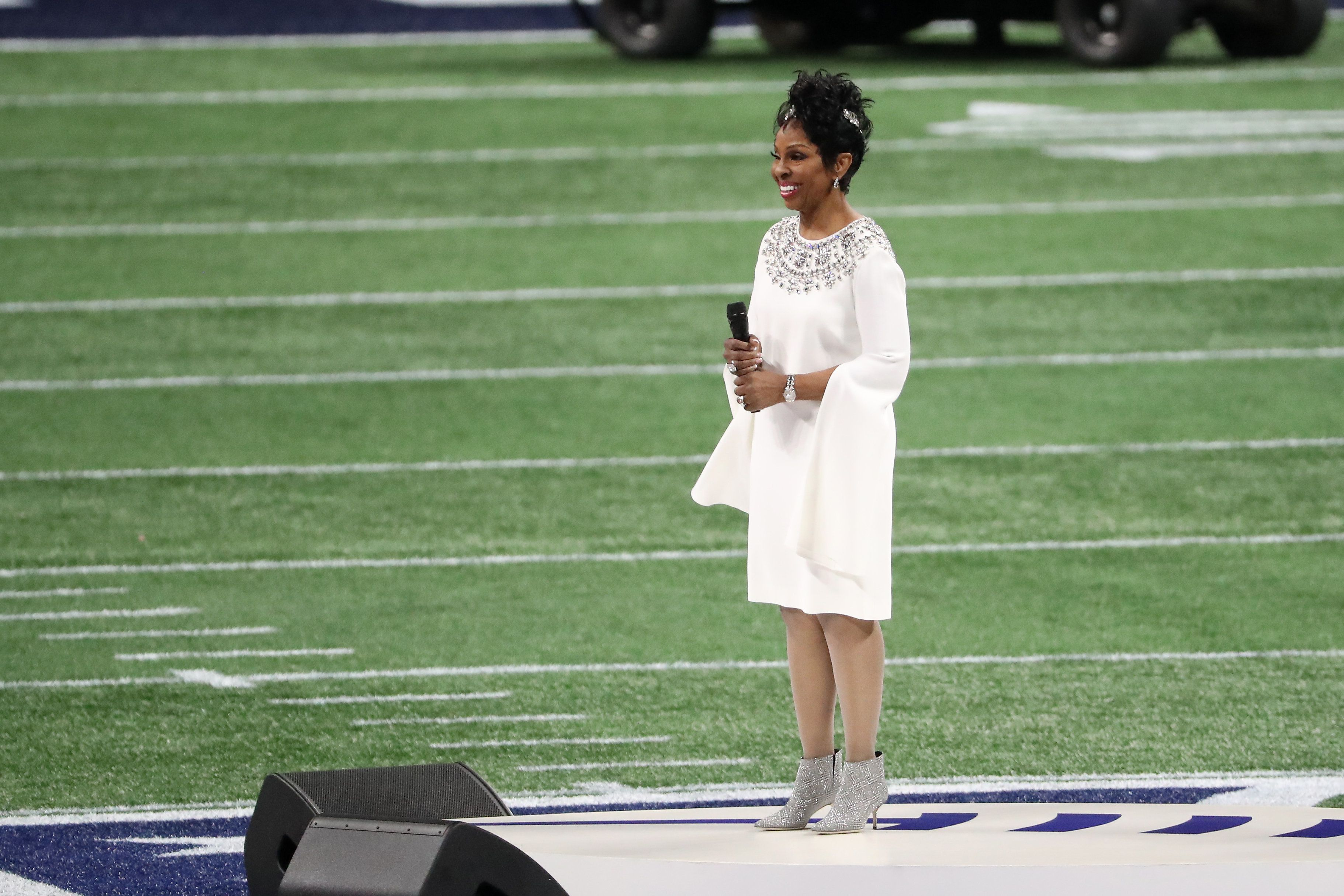 Gladys Knight's Super Bowl national anthem costs betting company dearly