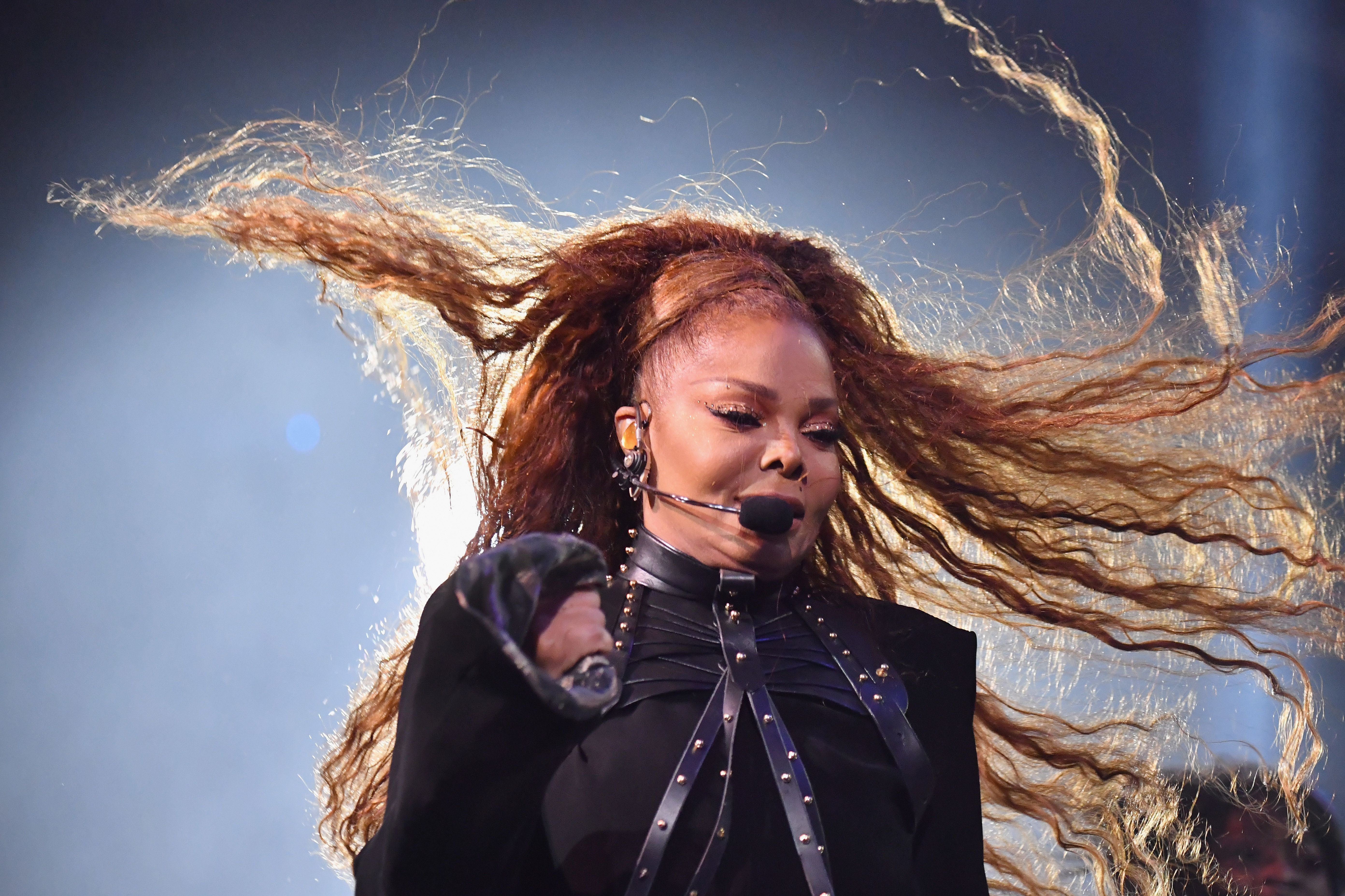BILBAO, SPAIN - NOVEMBER 04:  Janet Jackson performs on stage during the MTV EMAs 2018 on November 4, 2018 in Bilbao, Spain.  (Photo by Jeff Kravitz/FilmMagic)