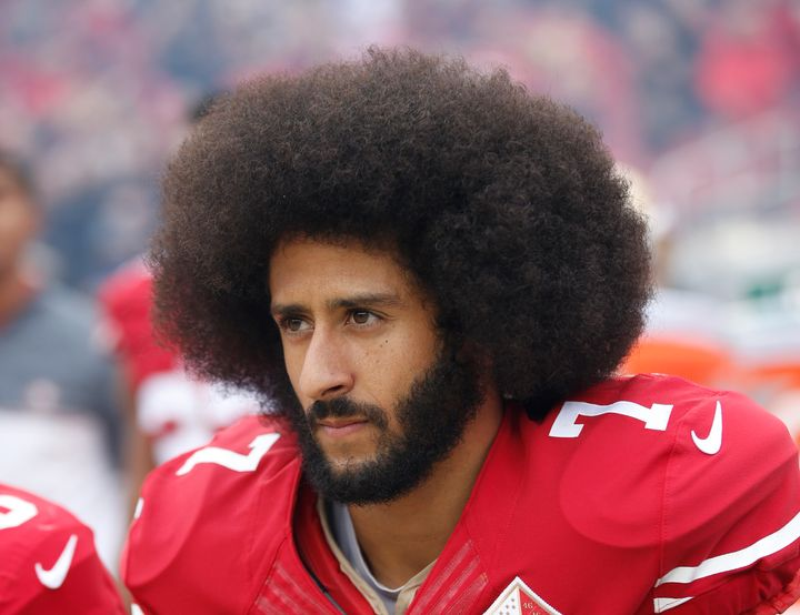 Former San Francisco 49ers quarterback Colin Kaepernick began protesting police brutality by kneeling during the national ant