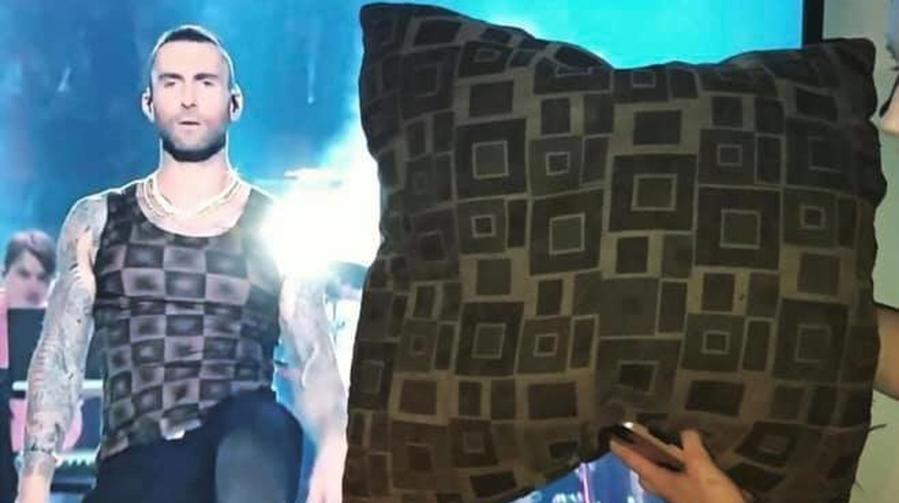 People Love That Adam Levine's Super Bowl Shirt Looked Like Pillows