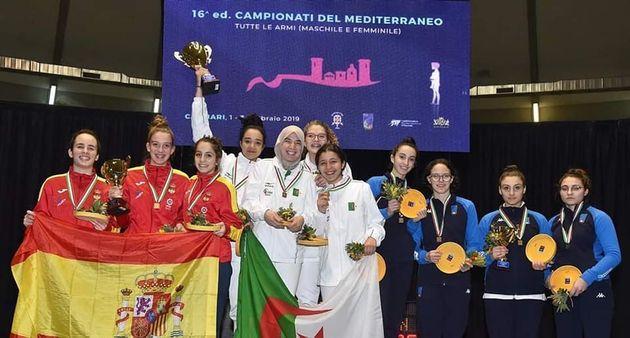 Escrime-Championnat méditerranéen (mixte féminin) : médaille d'or pour les