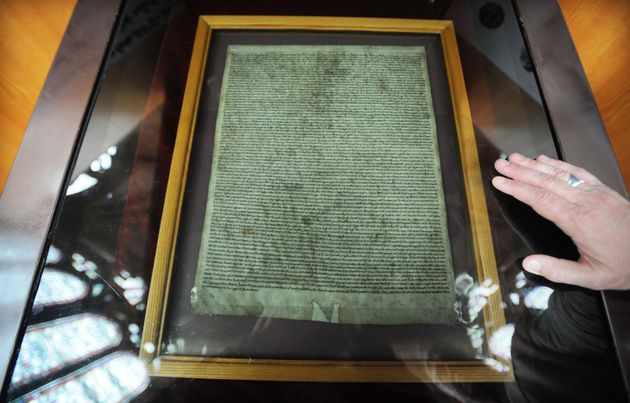 The Magna Carta, which is more than 800-years-old, was saved from being damaged by a second layer of
