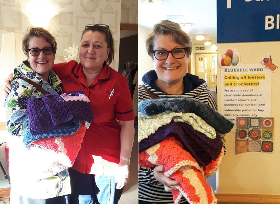 Knitters Rally To Send Over 100 Handmade Blankets To Hospice After Daughter's Heartfelt