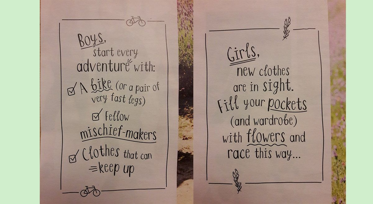 Fashion Retailer Apologises For 'Sexist' Catalogue Telling Boys To Ride Bikes And Girls To Collect