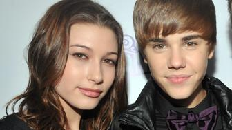 Justin Bieber was the center of attention Steven Baldwin and his daughter Haley at the New York City premiere of his 3-D film 'Never Say Never' held at Regal E-Walk 13 in Times Square, the 16-year-old wore an all-black ensemble with a purple bowtie. (Photo by Richard Corkery/NY Daily News Archives via Getty Images)