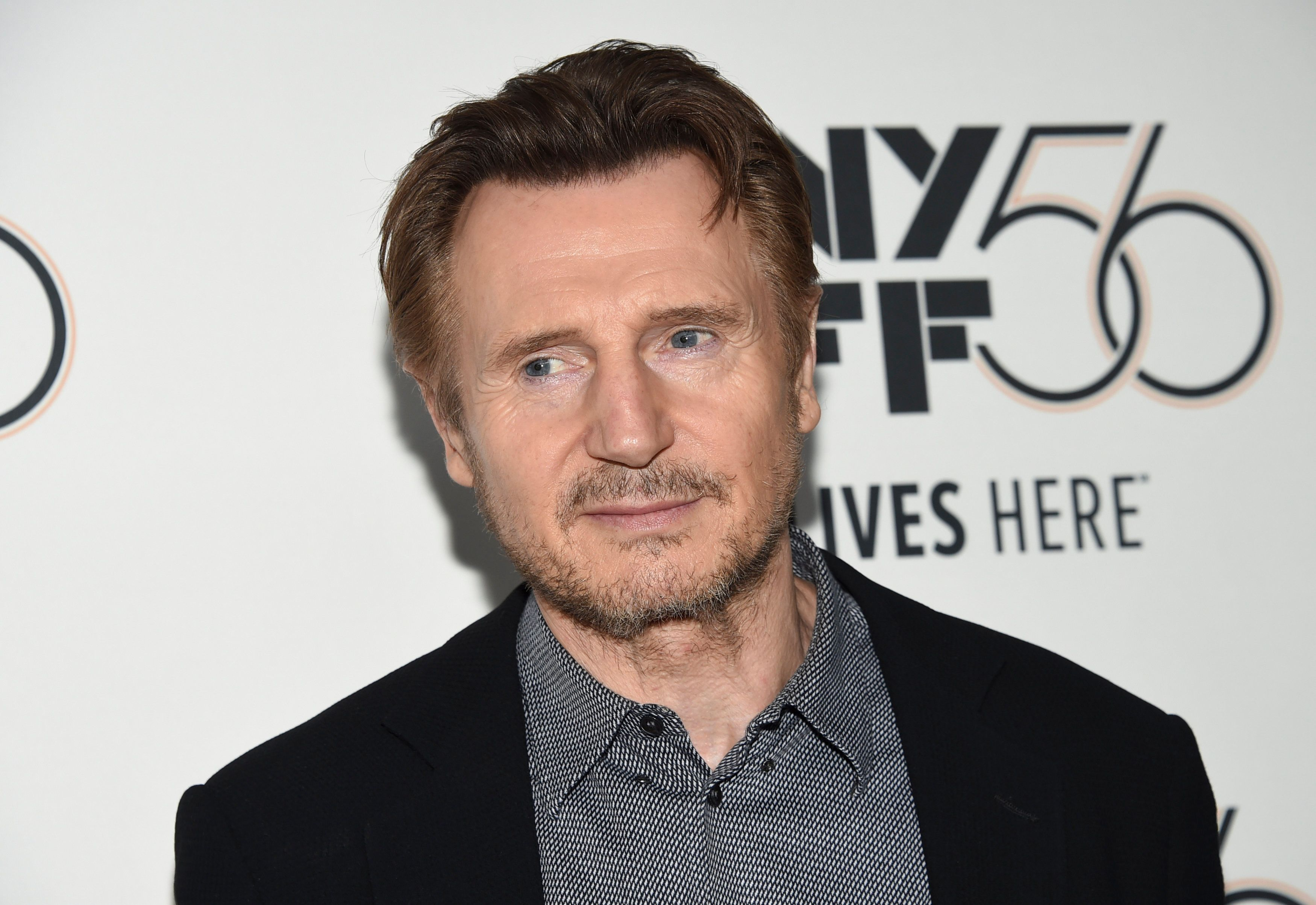 """Actor Liam Neeson attends the premiere for """"The Ballad of Buster Scruggs"""" at Alice Tully Hall during the 56th New York Film Festival on Thursday, Oct. 4, 2018, in New York. (Photo by Evan Agostini/Invision/AP)"""