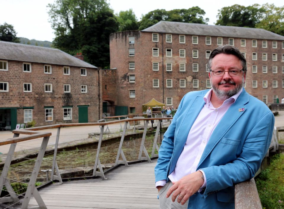 Derbyshire County Council leader Barry Lewis at historic Cromford