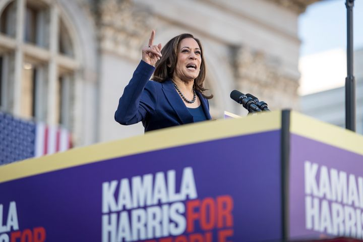 """Sen. Kamala Harris (D-Calif.) has said she favors""""Medicare for all."""" But she has also said she's open to ot"""