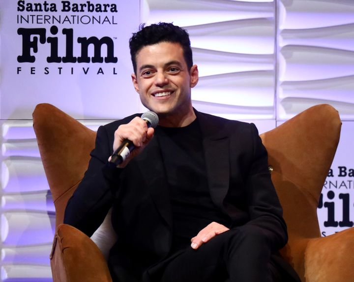 Rami Malek speaks onstage at the 34th Santa Barbara International Film Festival on Feb. 1.